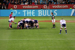 Rugby Duvenhage Feeds Scrum South Africa 2012 Royalty Free Stock Images