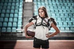 Rugby dziewczyny gracz fotografia stock