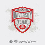 Rugby emblem university team and design elements Royalty Free Stock Images