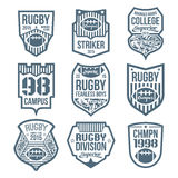 Rugby emblems Royalty Free Stock Photo