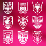 Rugby emblems Stock Photography