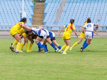 Rugby-Europa-Frauen Sevens stockfotografie
