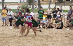 Rugby fêmea Imagens de Stock