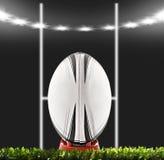 rugby för bollfält Arkivfoton