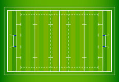 Rugby Field. An illustration of an aerial view and layout of a professional rugby field vector illustration