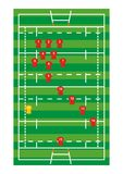 Rugby field. Vector representation of rugby field Stock Photos