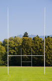 RUGBY FIELD. Rugby goal posts and field at Stanly Park, Vancouver royalty free stock image