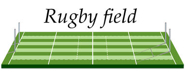 Rugby field Royalty Free Stock Photos