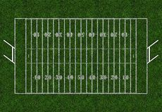 Rugby field with gates Royalty Free Stock Images