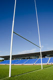 Rugby field and goalposts Stock Photography