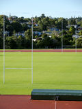 Rugby field and goalposts Royalty Free Stock Photography