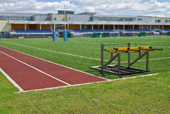 Sports field royalty free stock photography