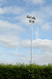 Rugby floodlights Royalty Free Stock Photos