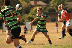 Rugby 7 football field Royalty Free Stock Images
