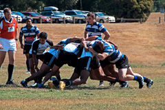 Rugby 7 football field. Melbourne Teenager Rugby 7 Game / American Football  field Stock Photos