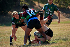 Rugby 7 football field Royalty Free Stock Photos