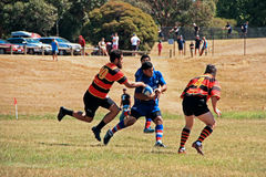 Rugby 7 football field. Melbourne Teenager Rugby 7 Game / American Football  field Royalty Free Stock Images