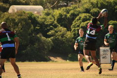 Rugby 7 football field. Melbourne Teenager Rugby 7 Game / American Football  field Stock Photo