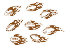 Rugby and football tattoos Royalty Free Stock Image