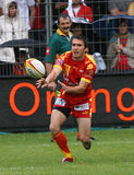 Rugby français du principal 14 - USAP contre Montpellier HRC Photo stock