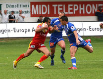 Rugby français du principal 14 - USAP contre Montpellier HRC Photos libres de droits