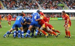 Rugby français du principal 14 - USAP contre Montpellier HRC Images stock