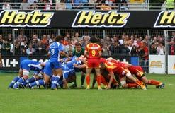 Rugby francês da parte superior 14 - USAP contra Montpellier HRC Imagem de Stock Royalty Free