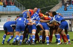 Rugby francês da parte superior 14 - USAP contra Montpellier HRC Imagens de Stock
