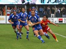 Rugby francês da parte superior 14 - USAP contra Montpellier HRC Foto de Stock
