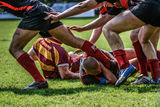 Rugby game Stock Images