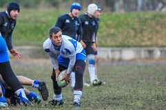rugby game players during the in first league championship in ukraine autumn Stock Photography