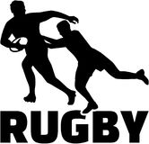 Rugby game. Vector sports icon Stock Images