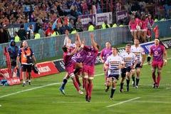 Rugby Gerhard Van den Heever Hougaard Botha del sud Immagine Stock