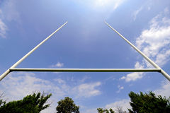 Rugby goal posts Royalty Free Stock Images