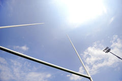 Rugby goal posts Royalty Free Stock Photo