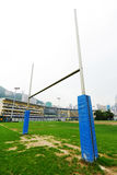 Rugby goalpost Stock Photo