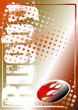 Rugby golden poster background 2 Royalty Free Stock Images