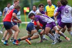 Rugby gracz robi sprzętowi, fotografia stock