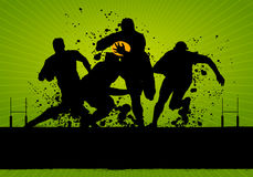Rugby grunge Poster Stock Photos