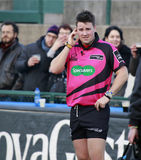 RUGBY GUINNESS PRO 12, BENETTON VS ULSTER - REFEREE Stock Image