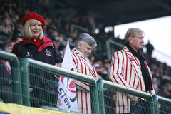 RUGBY GUINNESS PRO 12, BENETTON VS ULSTER - supporters Royalty Free Stock Photography