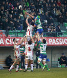 RUGBY GUINNESS PRO 12, BENETTON VS ULSTER - TOUCHES Stock Photo