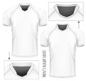Rugby jersey with different collars. Royalty Free Stock Photo