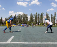 Rugby 7 july Ukraine. Royalty Free Stock Photos