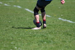 Rugby kick Stock Images