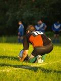 rugby kopnięcie Obrazy Royalty Free