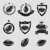 Rugby labels and icons set. Vector Stock Photography