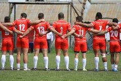 Rugby - lagande Royaltyfria Bilder