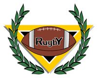 Rugby laurel Royalty Free Stock Images