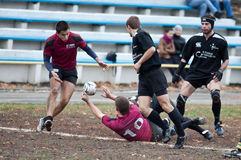 Rugby League Match. Stock Image